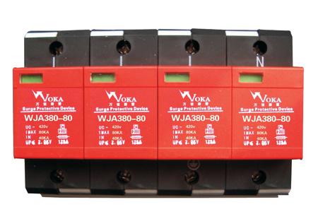 当故障显示窗口呈红色或遥信端子输出报警信号时,表示防雷模块出现